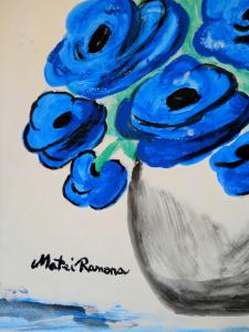 3rd Painting Of Out Of Ordinary Poppies Paintings Series By Artist Ramona Matei